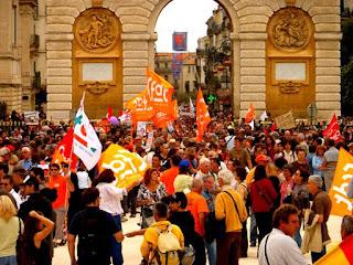 Manifestation à Montpellier contre le projet des retraites