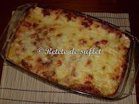 Lasagna cu spanac si carne de pui