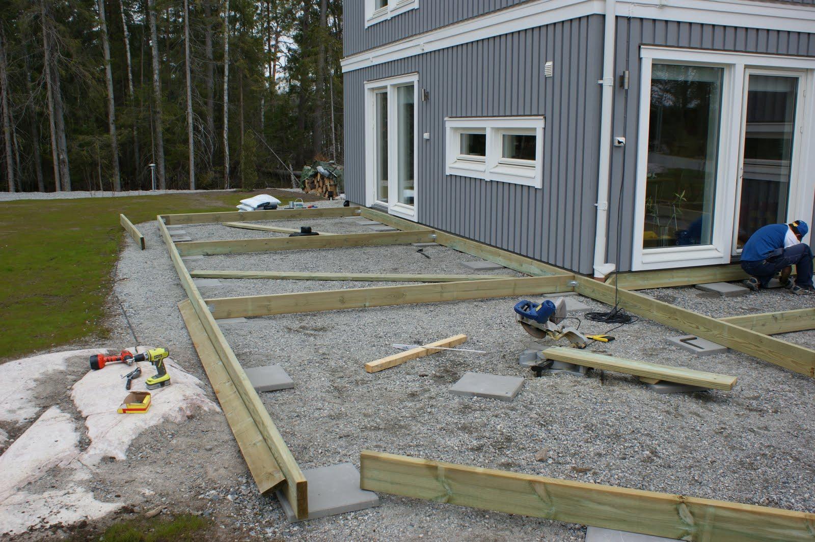 Högt betygsatt 58123409708 Bygga Trädäck På Plintar, Få idéer ...