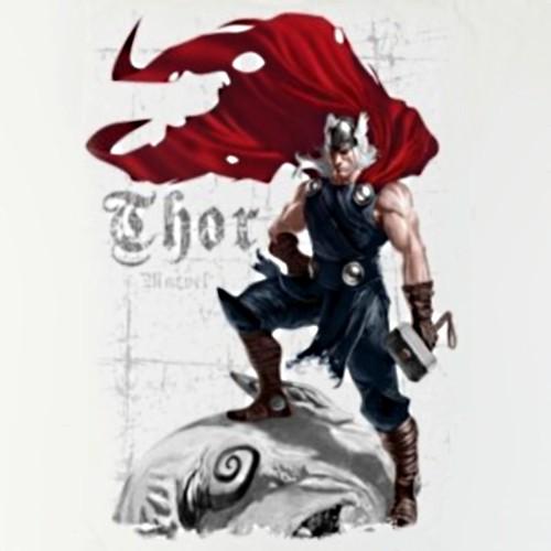 thor logo wallpaper. a gothic style Thor logo.