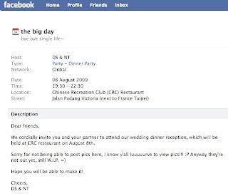 Wedding Invitation Through Facebook