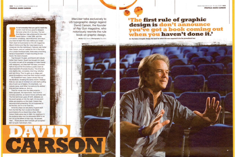 the impact of david carson