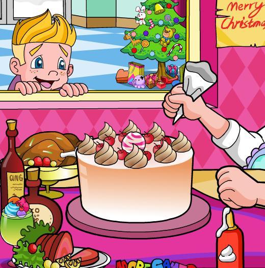 Juegos de aprender a hacer tartas para la navidad - Juegos para aprender a cocinar ...