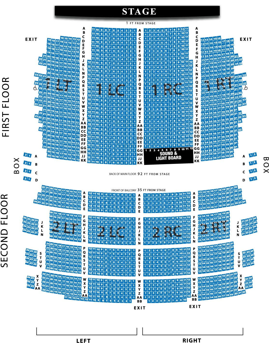 Wisconsin music man riverside theater sections and seating areas