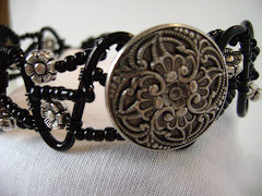 Metal Button Cuff Bracelet