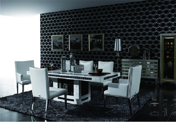 Outstanding marble dining table with black crystal at the sides size 2 2m l x 1m w  600 x 418 · 58 kB · jpeg