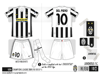 a10cec92b Juventus FC 2009 10 home kits. Italian Serie A club s based in Turin