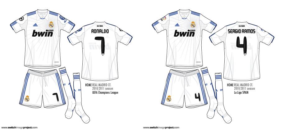 football teams shirt and kits fan real madrid 201011