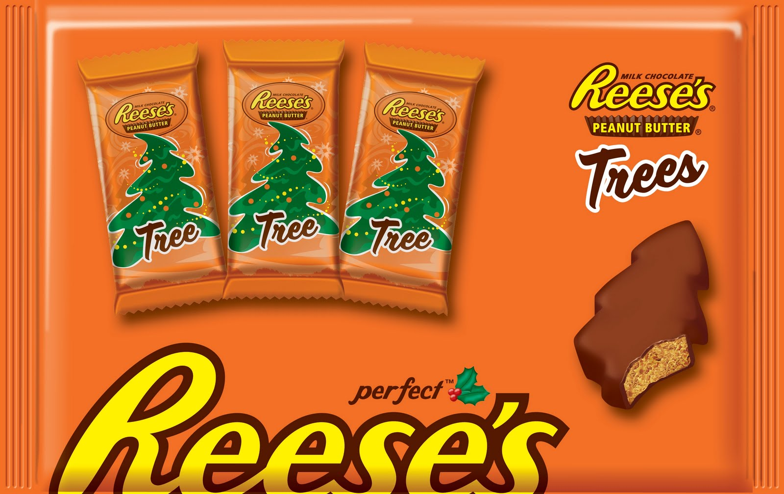 seasonal smooth fan rigid edges  reeses cup trees