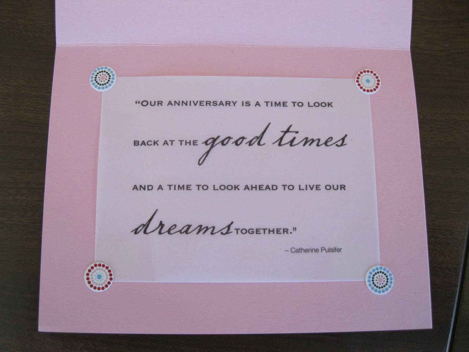 Sahm i am stay at home mum craft anniversary card