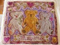 Three Teddy Bears Rug