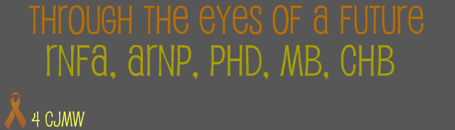Through The Eyes Of A Future RNFA, CRNA, ARNP, DnP, Ch.M, BSN, MSN, MB, ChB