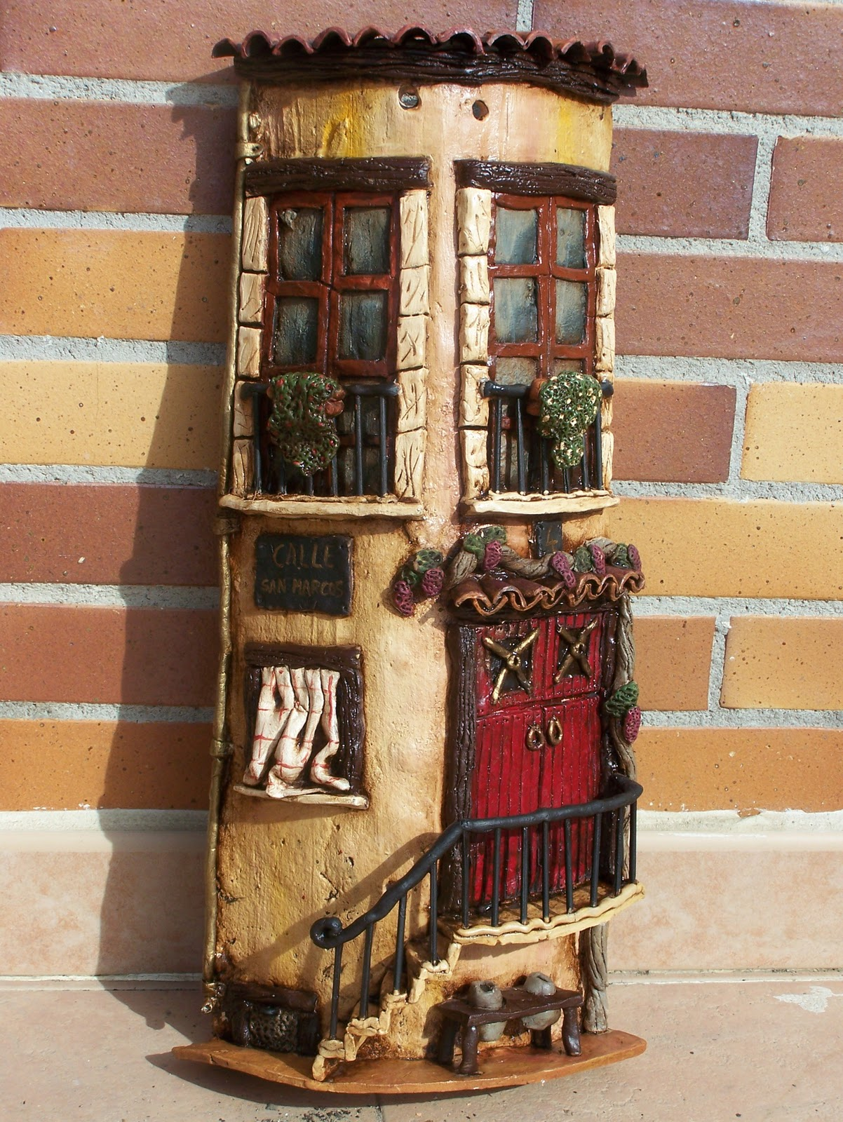 Kekotes teja artesanal for Puertas de tejas decoradas