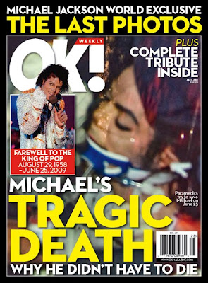 Michael Jackson Death Photo in OK Magazine