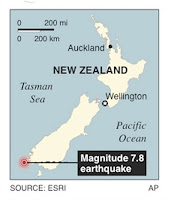 New Zealand tsunami warning Issue