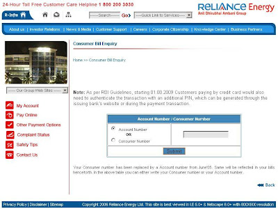 Reliance Energy Bill Payment - Reliance Energy Online Bill
