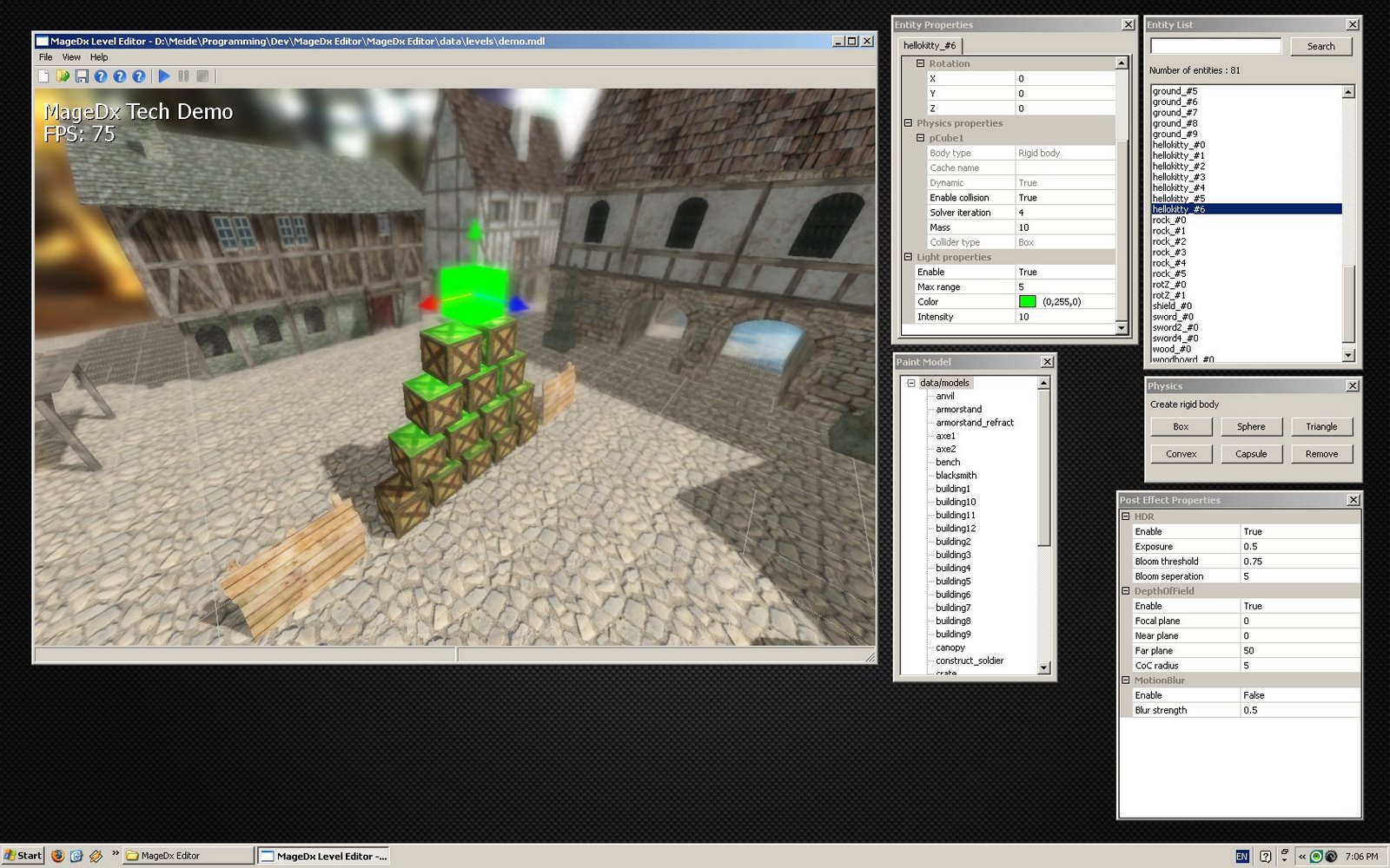Magedx 3d graphics engine magedx level editor 3d editor