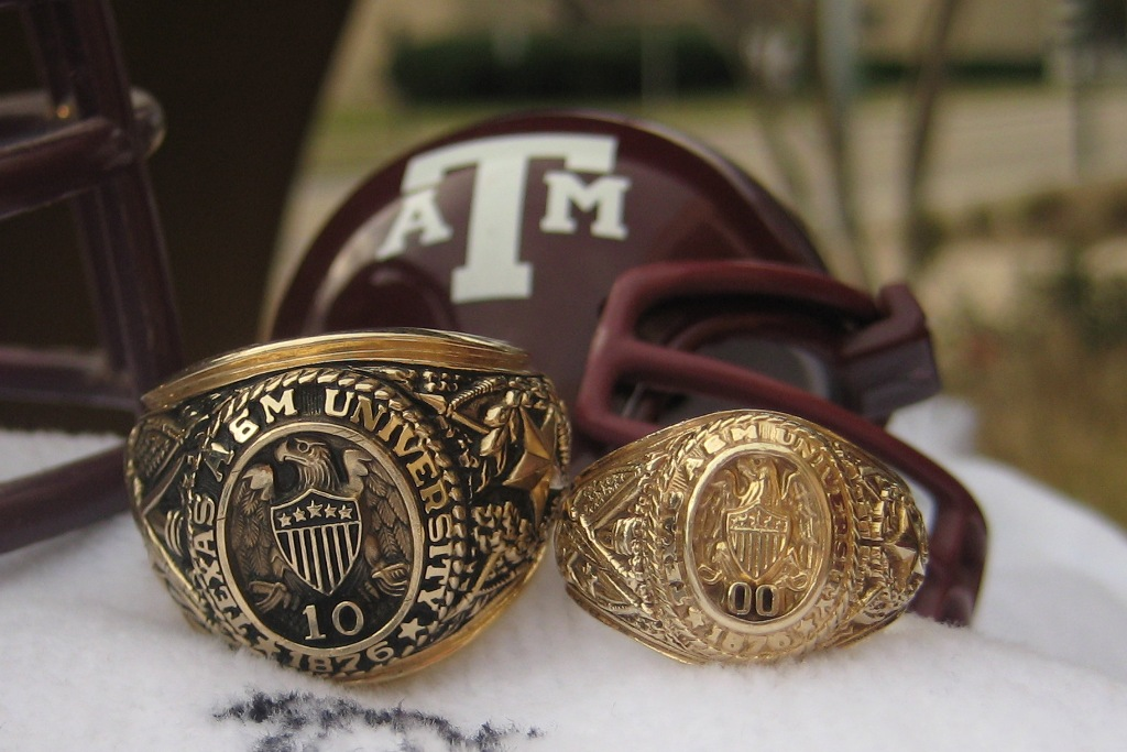the cross family aggie rings