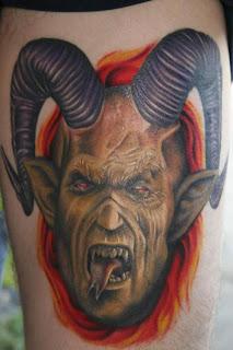 Horned Devil Tattoo