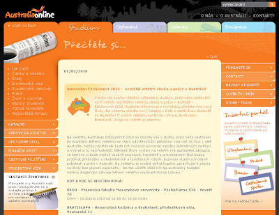 Studium a práce v Austrálii - Veletrh EduSummit 2010