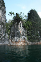 Cliffs in Chiao Lan lake