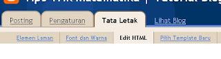 tata letak, edit HTML