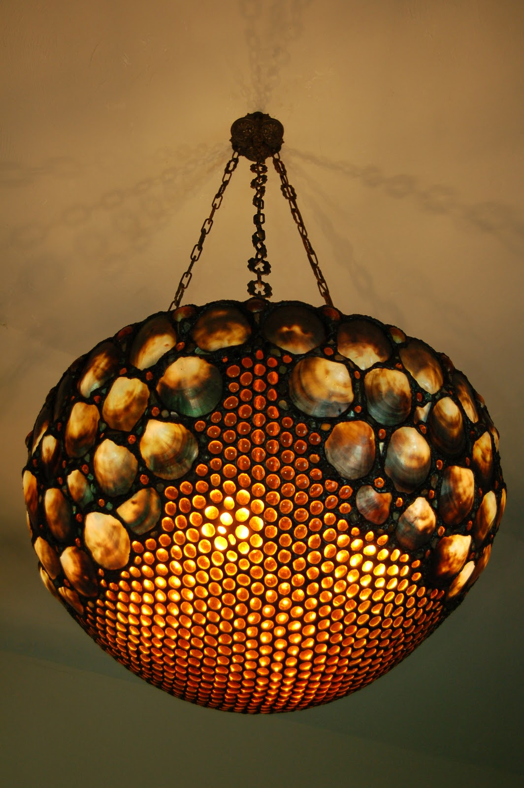 Seashell chandelier seashell lighting by drake lamps here comes the sun available for purchase please inquire for pricing arubaitofo Image collections