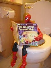 Caida divertida niño Araña