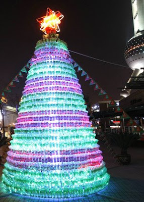 Christmas Tree made from 1800 Bottles