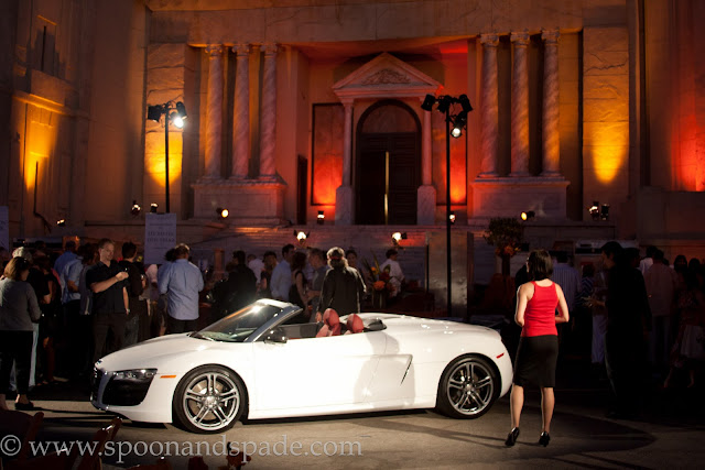 Audi sports car, white car