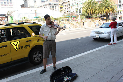 Violin Player in San Francisco Downtown
