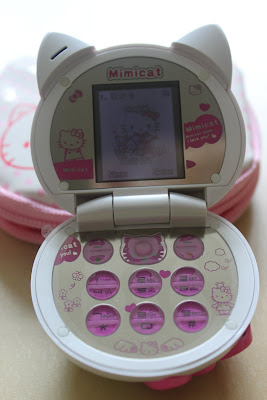 Hello Kitty mobile phone (inside)