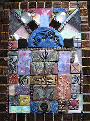 Butterfly Clay and Glass Mosaic