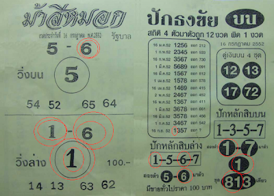 Good Thailand Lottery Paper For 16 July