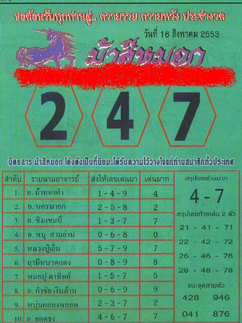 Thailand Lottery Tips http://ronnitips.blogspot.com/2010/08/best-papers-for-trhailand-lottery-16.html