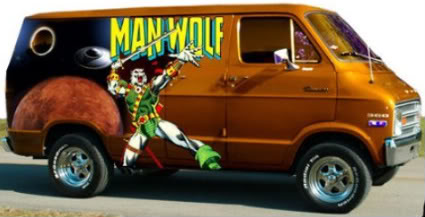 Neighborhood I Saw A Truck Fully Muralized For The Heavy Metal Band Man O War And Started Screaming To My Wife With Excitement