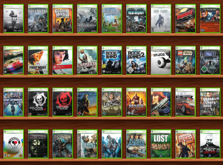 all games for xbox 360 list