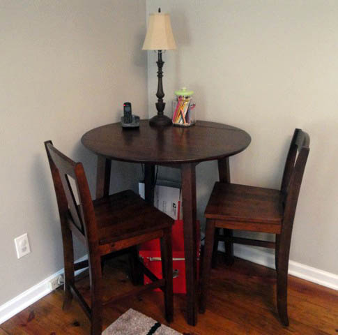 Slipcover for Bistro Table \u2013 Going Undercover & Slipcover for Bistro Table - Going Undercover - Pretty Handy Girl