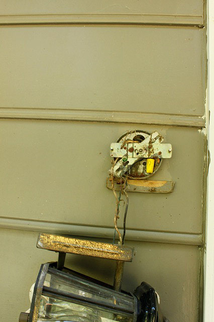 Installing new exterior lighting pretty handy girl for Exterior light no junction box