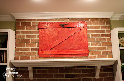 Make a decorative red barn door