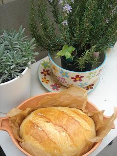 Cosas de chari pan blanco en cazuela de barro - Rejillas de barro ...