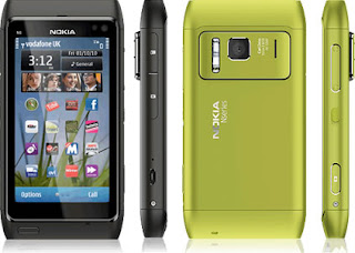 Nokia N8 Green and Black Colours on Vodafone