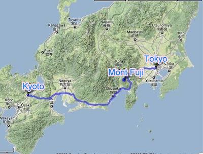 carte du japon mont fuji •▷ Voyages   Cartes