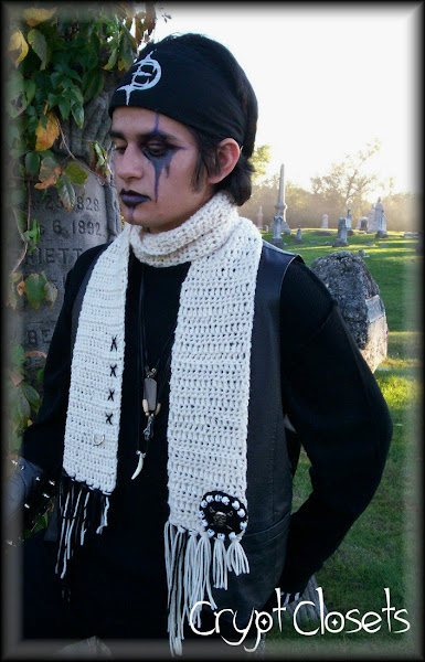One of my Gothic crocheted scarves...