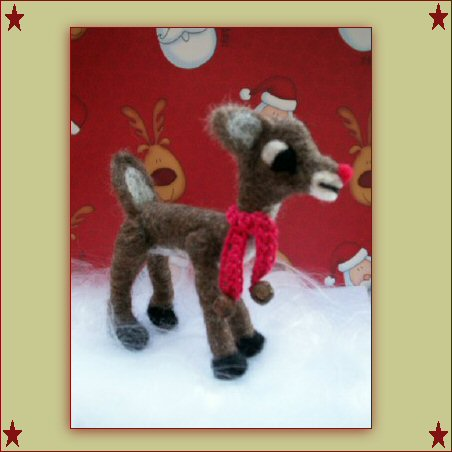 needle felted rudolph (SOLD)