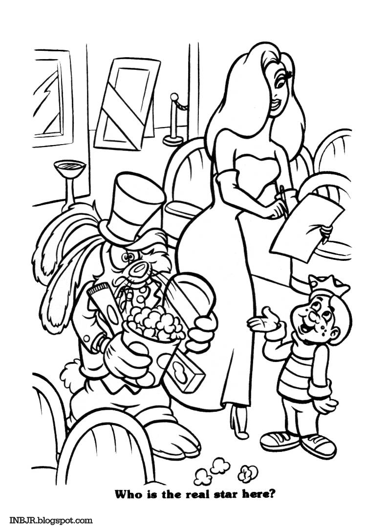 imnotbad com a jessica rabbit site coloring book jessica and