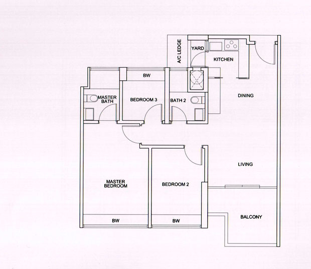 3 Bedroom Compact Floorplan