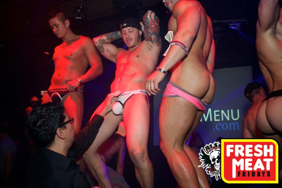 male stripper in a go go bar