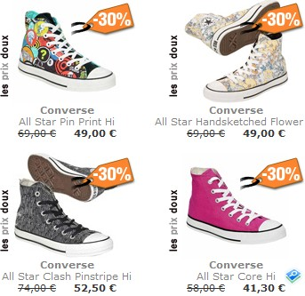 ventes privees sur internet converse spartoo. Black Bedroom Furniture Sets. Home Design Ideas
