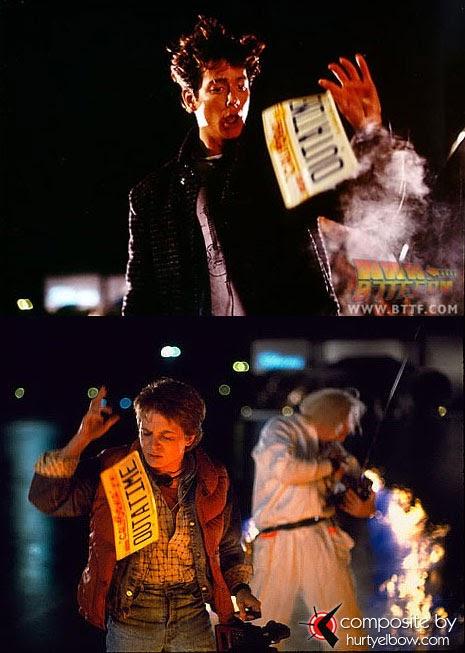 Rodaje de Regreso al Futuro : Imágenes detrás de las cámaras Eric+Stoltz+as+Marty+McFly